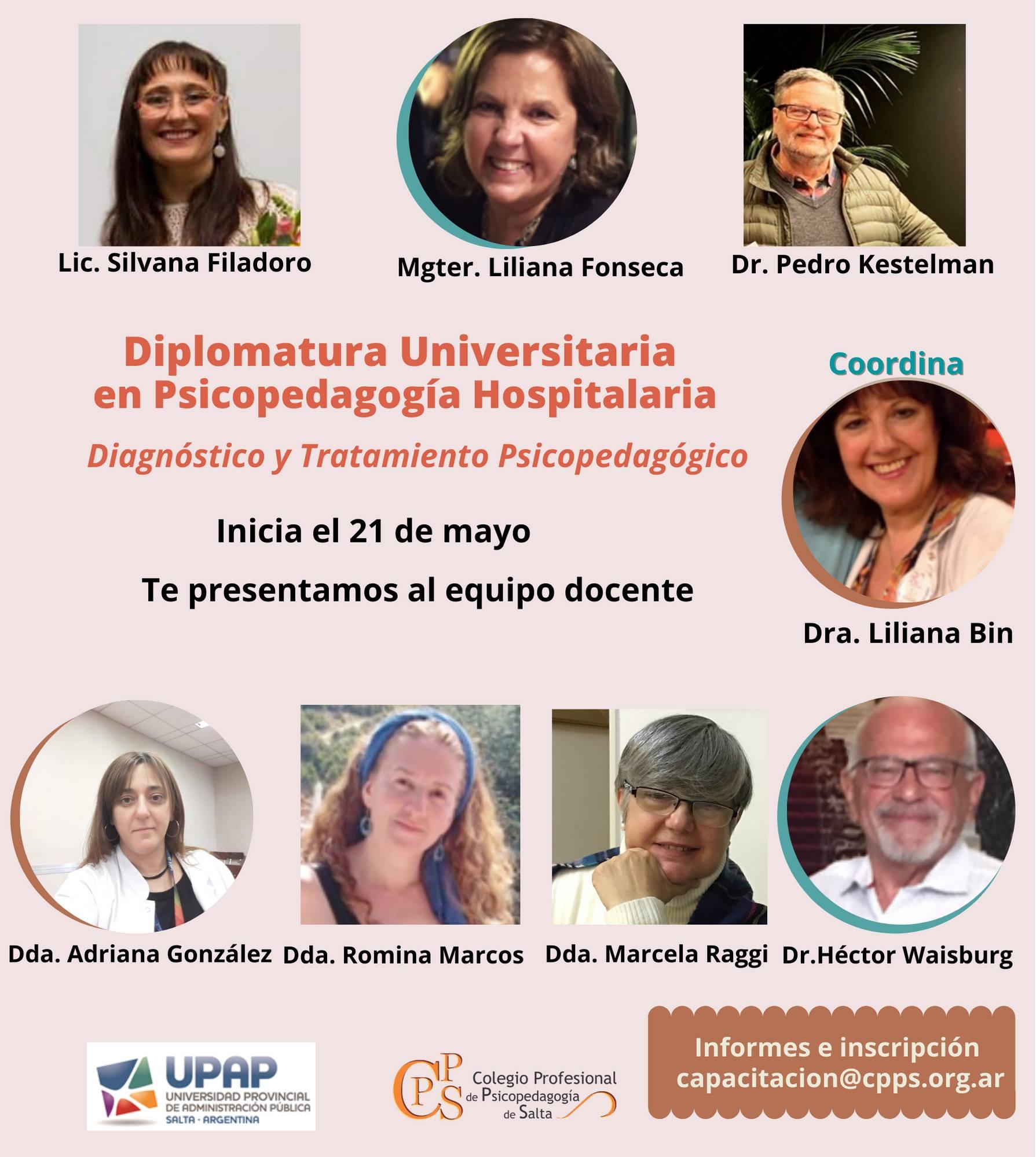 21/05 | Diplomatura Universitaria en Psicopedagogía Hospitalaria- Diagnóstico y Tratamiento